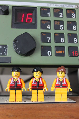 The Crew with a VHF radio