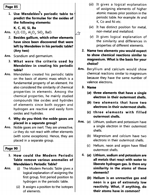 NCERT Solutions for Class 10th Science Chapter 5_1