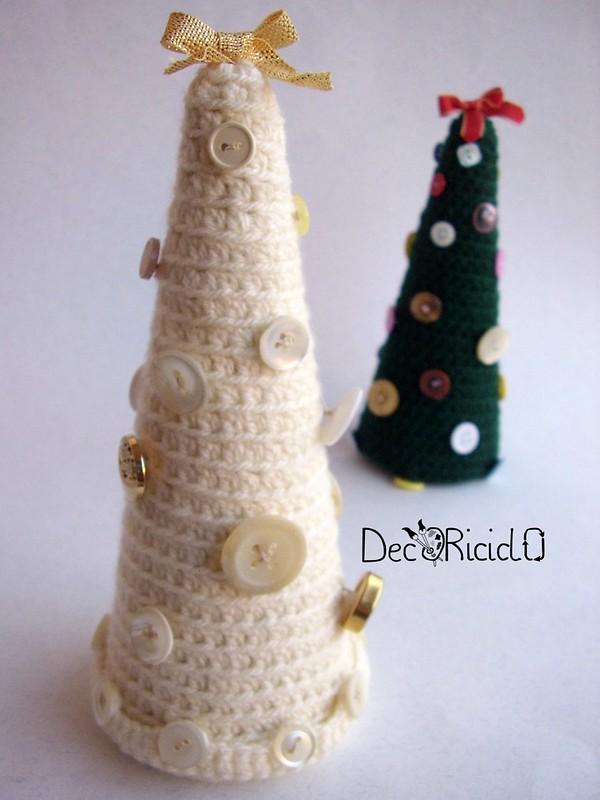 alberelli-contenitori, lana e cartone 4