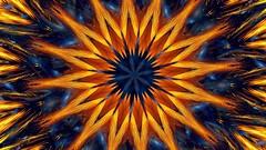 Kaleidoscope, fractal, neon