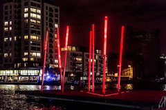 Grand Canal Square In Dublin at Night Ref-100142