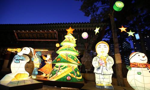 Árbol de navidad en Seul