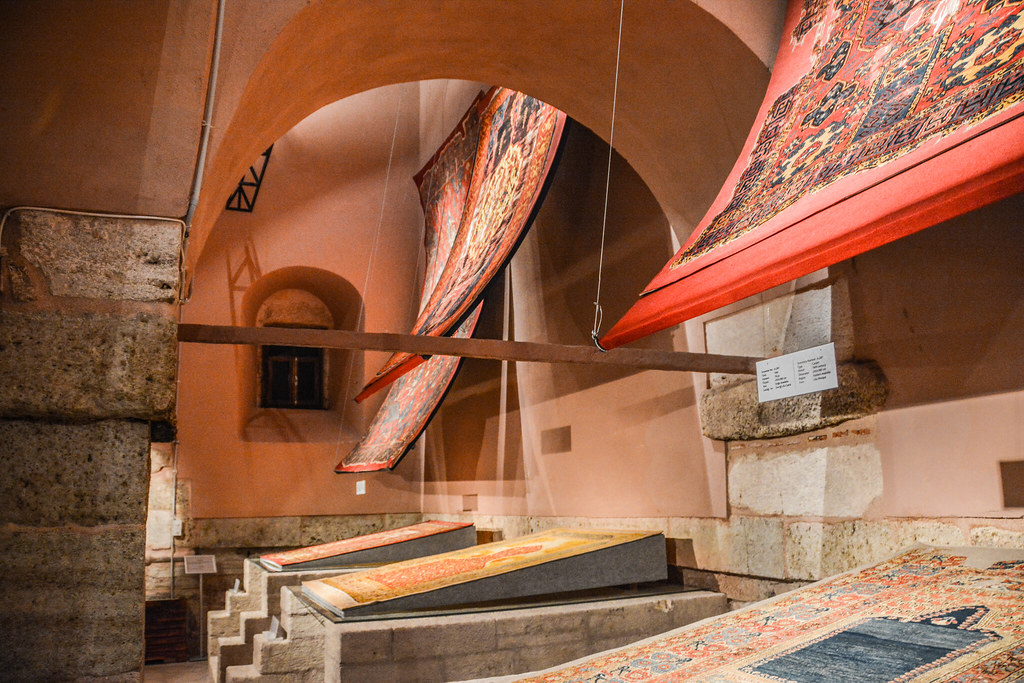 Old carpets in historical settings - Istanbul Carpet Museum