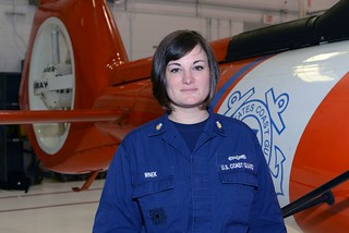 Petty Officer 1st Class Danielle Wnek is at Air Station Atlantic City, N.J., Dec. 17, 2014. Wnek reported to the air station in the summer of 2014 and, shortly after, established a Cloverbuds group to help children build foundations for confident and fulfilling lives. (U.S. Coast Guard photo)