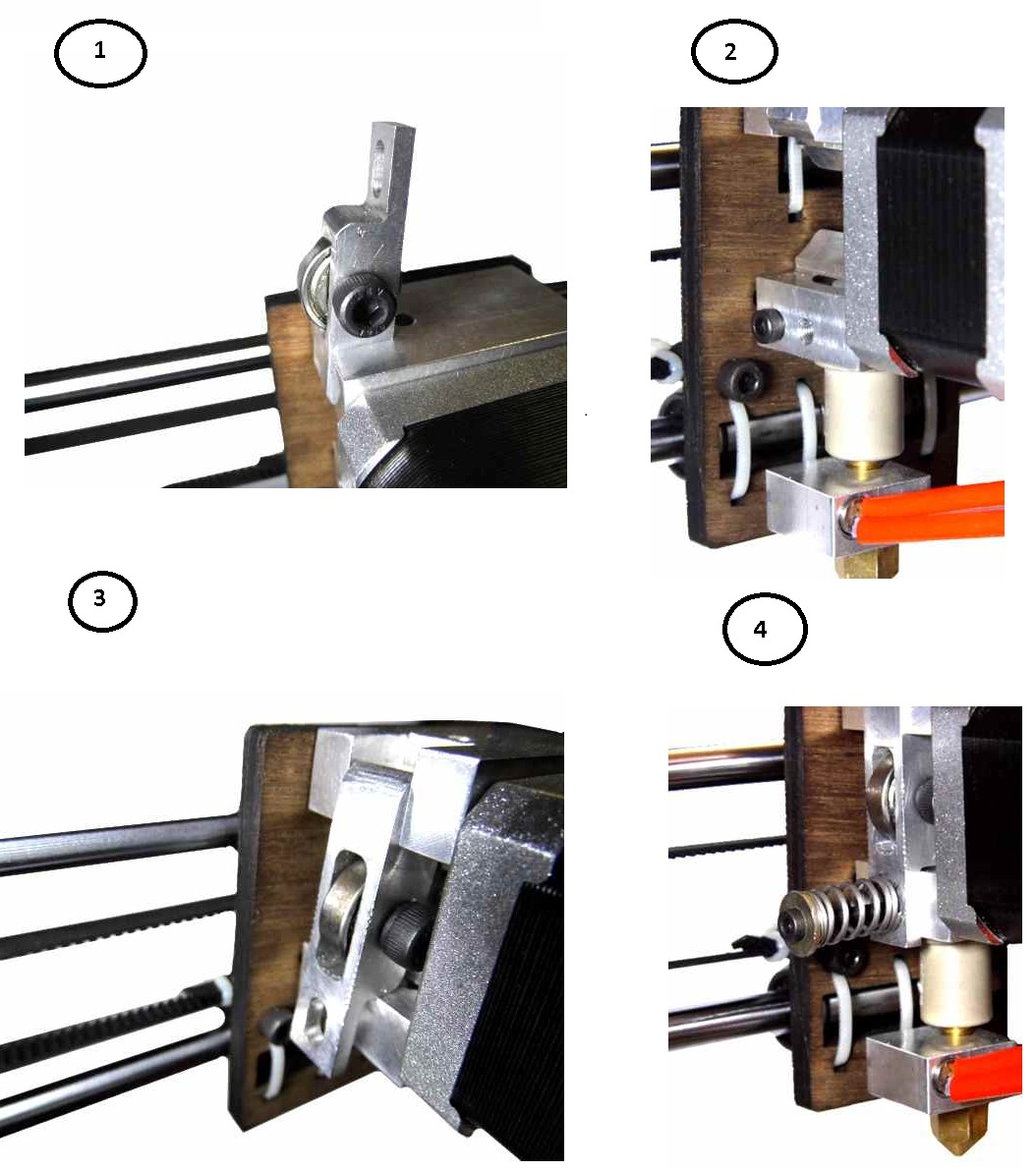 WoodMAX i3 Extruder Assembly