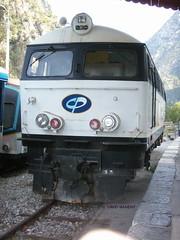 20060824 - 053 La Vesubie Plan du Var - La loco Henschell stationne a quai