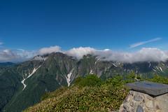谷川岳稜線の雲はとれてきた!@白毛門