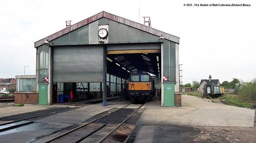 train diesel railway sb britishrail nottinghamshire tmd class58 shirebrook 58012