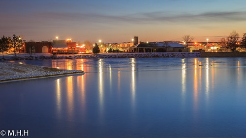 longexposure blue sunset lake reflection water reflections landscape lights reflecting virginia va citylights dmv longshutter v5 centrevilleva