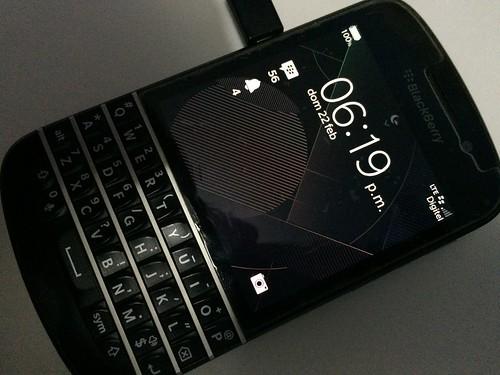 BlackBerry Q10 actualizado