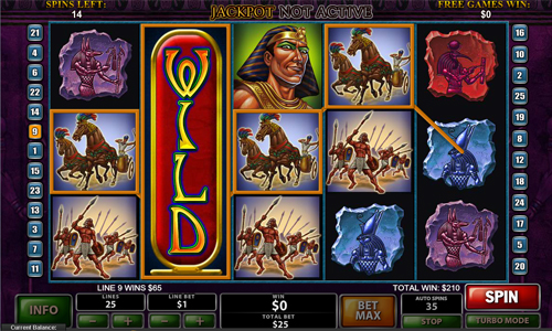 free The Pyramid of Ramesses bonus free spins
