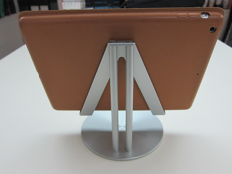 Just Mobile UpStand - With iPad Air - Landscape Back