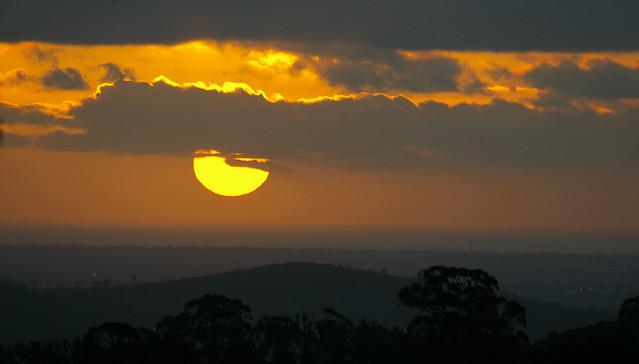 First sunset of Autumn