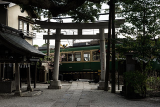 A Train and Torii