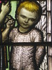 Detail of the Jesus and the Children Pane of the Ezekiel Oddy Stained Glass Memorial Window; St Kilda Presbyterian Church - Corner Barkley Street and Alma Road, St Kilda