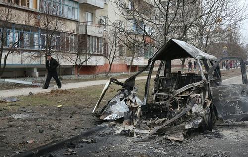 Bombardeos en Ucrania