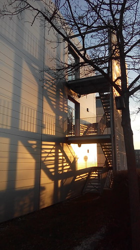 sunset shadow west mobile stairs handy university smartphone acer uni universität schatten ulm treppen e700 ulmuniversity