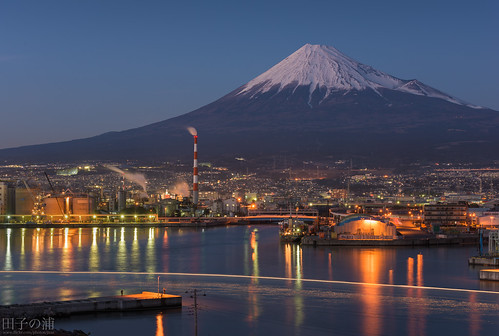 Tagonoura Port with Mount Fuji
