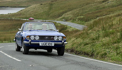 Triumph Stag In The North Wales Hills.