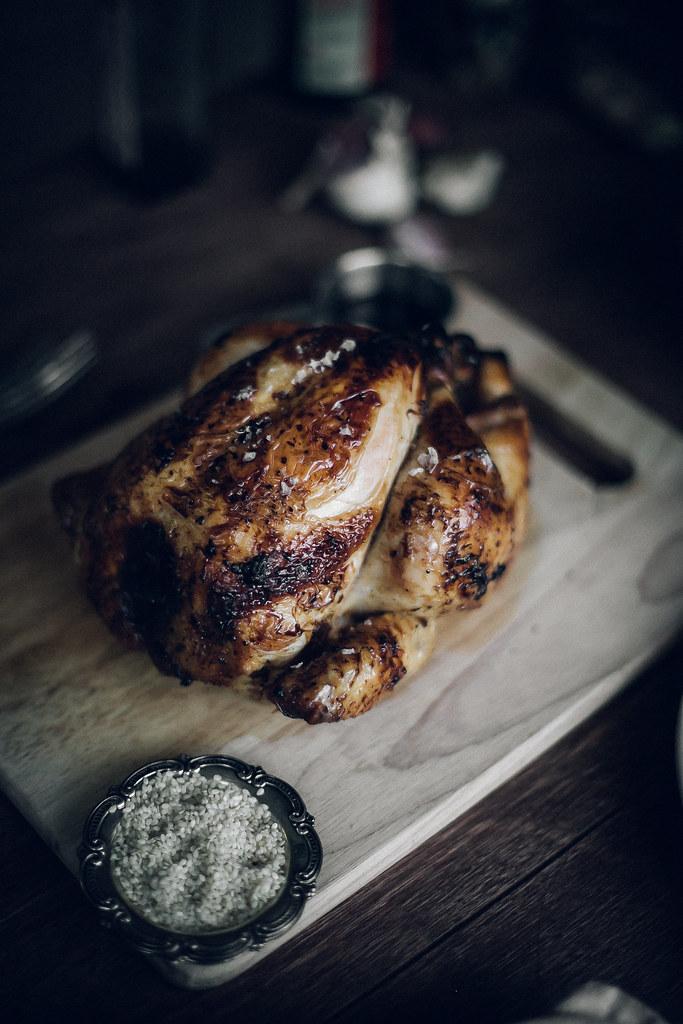 Ginger & Honey Soy Roast Chicken. Sunday Roast with Bok Choy & Sweet Potato Mash.