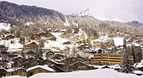 Picturesque chalets in Les Diablerets