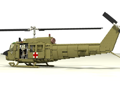 UH-1D Huey Medevac rear left