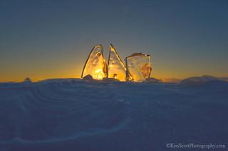 Lake Michigan ... sunset 'angularized'