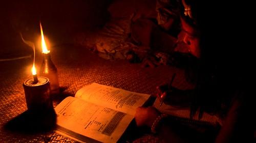 Joy Dominguez Studying by Candlelight (Gregg Yan & WWF)