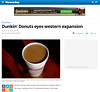 Dunkin' Donuts eyes western expansion