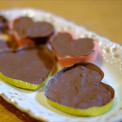娘が初めて作った手作りチョコレート