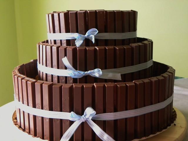 torta kitkat e smarties 3 piani