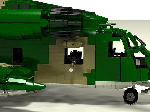 HH-53C Super Jolly Green Giant front door guns