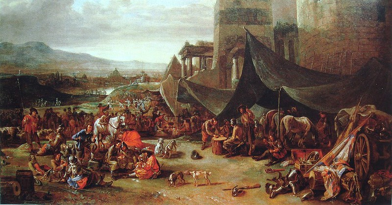 The sack of Rome, by Johannes Lingelbach