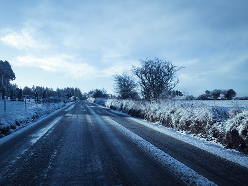 Wintery drive home from work this morning!