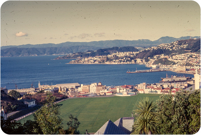 Wellington, New Zealand - Kodachrome Slide - 1964