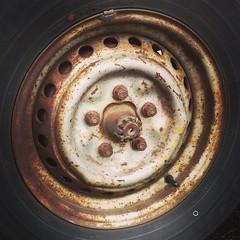Back left #VW #Vanagon #tire No wheel covers.  #Raw #Art #Volkswagen #vanlife #fun #photo #series #Follow