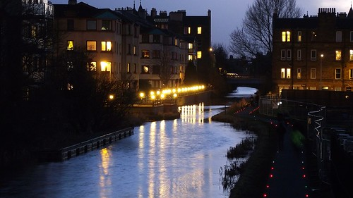Union Canal at Polwarth, dusk