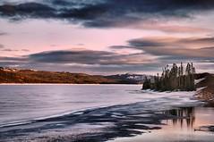 Vers le crépuscule sur le lac...