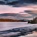 Vers le crépuscule sur le lac... by Lucien-Guy