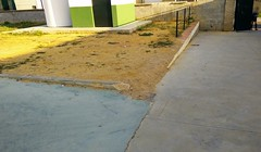 floor, sidewalk, soil, driveway, concrete, road surface, walkway, tarmac,