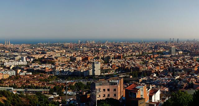 Panorámica Barcelona desde Torre Baró.