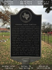 Abraham Carver Cemetery location