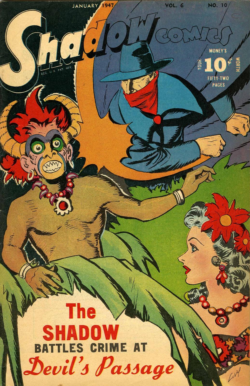 Shadow Comics V6#10 Mile High pedigree (Street & Smith, 1947) Charles Coll Cover