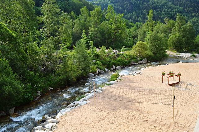 The beach, Setcases, the Pyrenees
