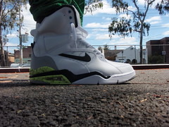 "Air Command Force Retro ""White Men Can't Jump"" (White/Wolf Grey-Volt-Black)"