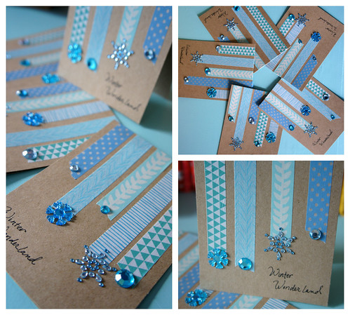washi icicle cards