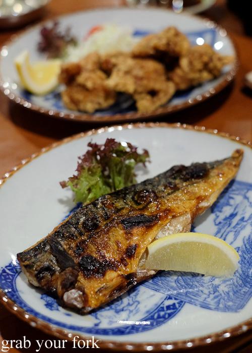 Grilled mackerel at Nom, Darlinghurst