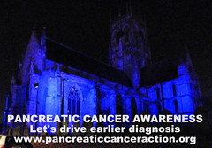 Church lit up for pancreatic cancer