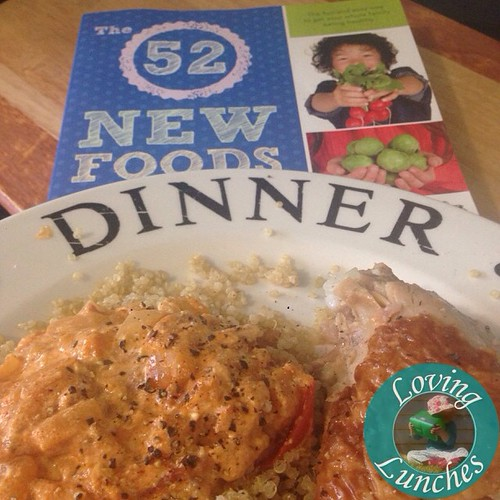 Loving that Mr Loving created a stroganoff quinoa inspired dish for dinner… thank you #52NewFoods @crunchacolor #foodrevolution !😚😍