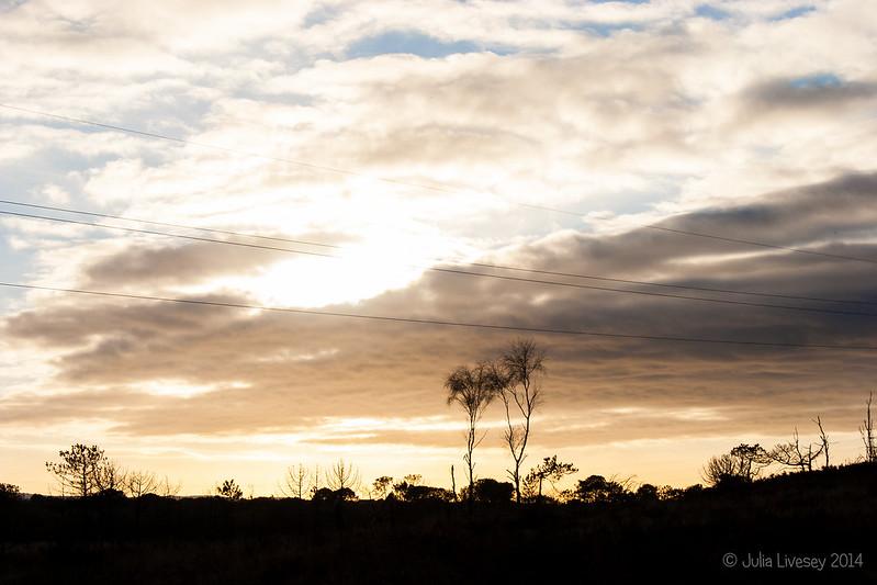 The sun ducks behind a cloud